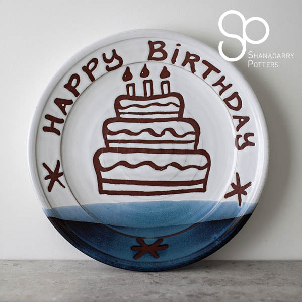 "Atlantic Wave Happy Birthday 11""Plate"