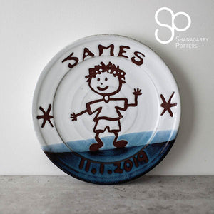 "Atlantic Wave Personalised 8"" Plate"