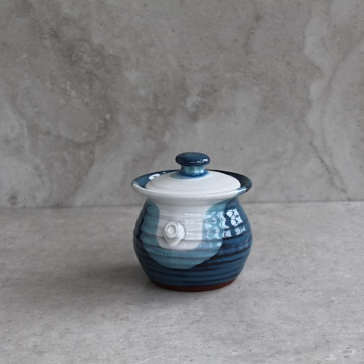 Atlantic Wave Lidded Jam Pot
