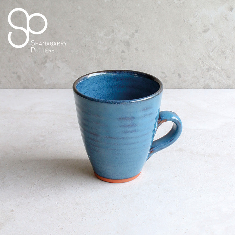 Mystic Blue Curved Mug
