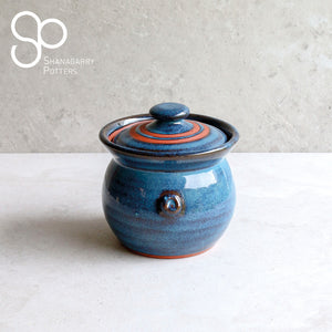 Mystic Blue Lidded Serving Pot