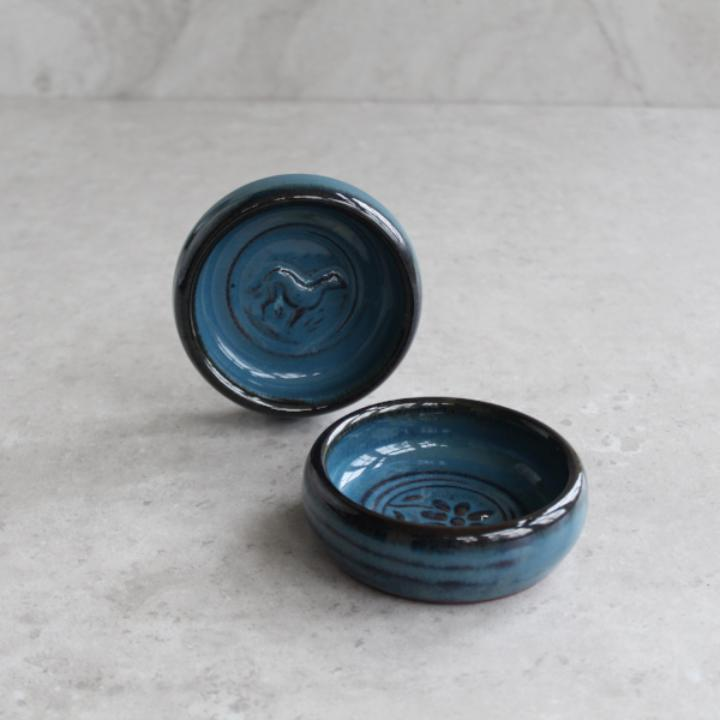 Mystic Blue Flower Stamp Dish