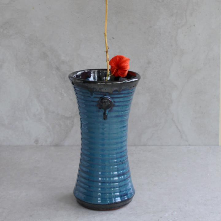 Mystic Blue Medium Flared Vase