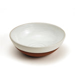 Classic Cereal Bowl - natural terracotta and white glaze
