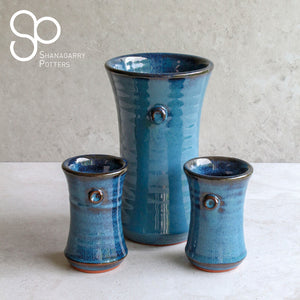 Mystic Blue Small Flared Vase
