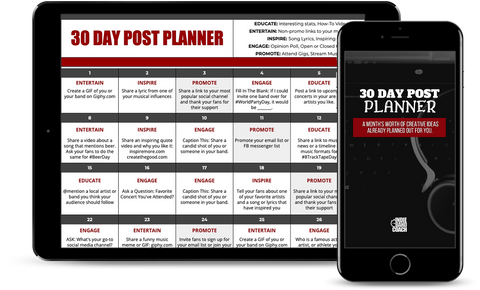 30 day post planner