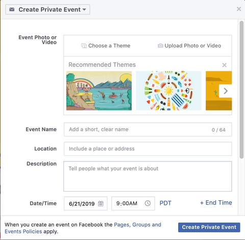 facebook event dashboard