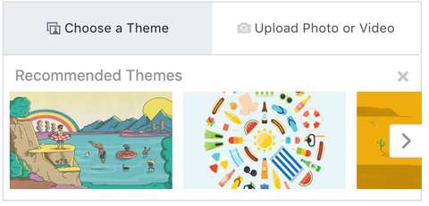 Facebook event theme and image