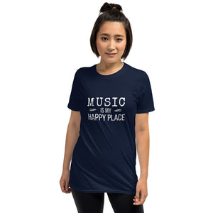 MUSIC IS MY HAPPY PLACE Indie Tee