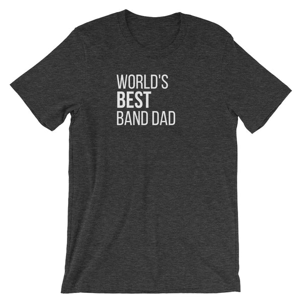 World's Best Band Dad Tee - Indie Band Coach