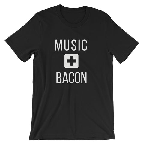 Music + Bacon Tee - Indie Band Coach