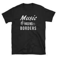 Load image into Gallery viewer, Music Has No Borders - Graphic Tee Design - Indie Band Coach