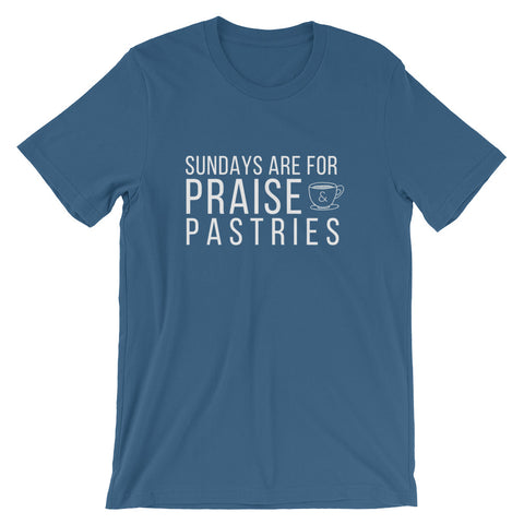 Sundays Are For Praise & Pastries Tee - Indie Band Coach