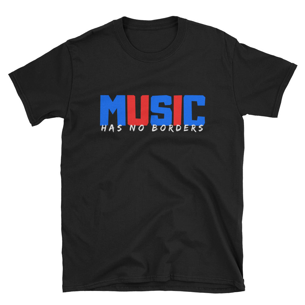 Music Has No Borders - Inspirational T-Shirt - Indie Band Coach