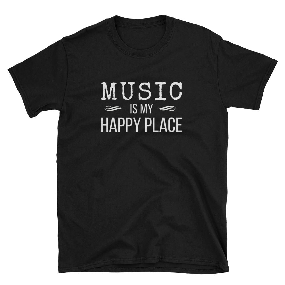 Music Is My Happy Place Gildan Tee - Indie Band Coach