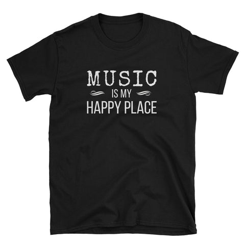 Music Is My Happy Place - Inspirational T-Shirt - Indie Band Coach
