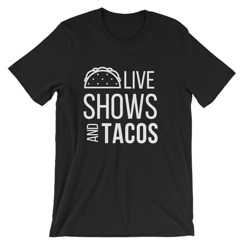 Live Shows and Tacos Tee - Indie Band Coach