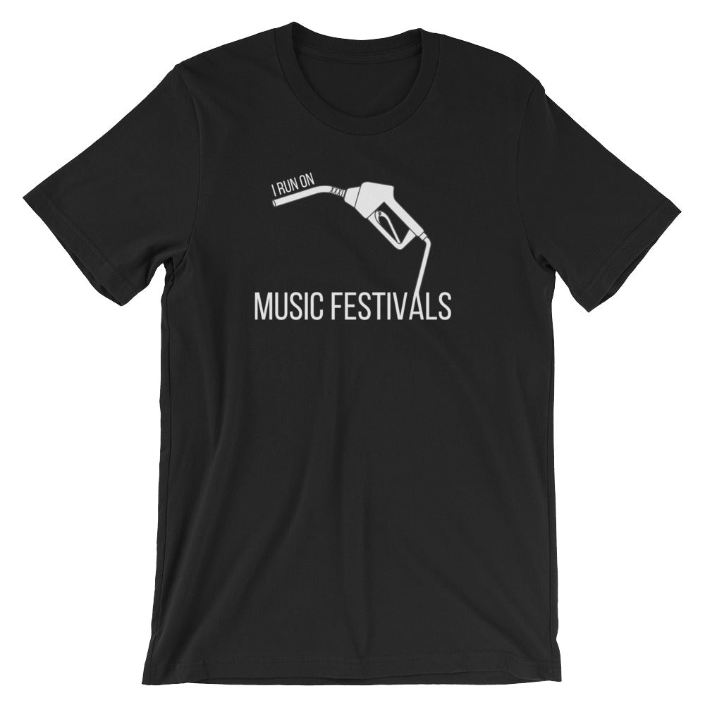 I Run On: Music Festivals Tee - Indie Band Coach