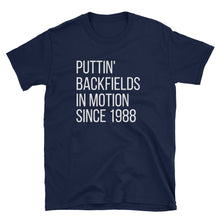 Load image into Gallery viewer, *Puttin Backfields In Motion - Retro Tee - Indie Band Coach