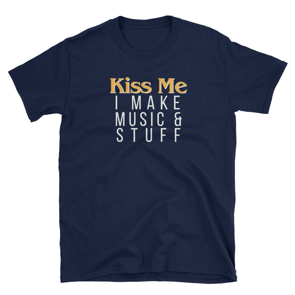 Kiss Me I Make Music & Stuff St Patrick's Day T-Shirt - Indie Band Coach