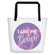 Load image into Gallery viewer, Take Me to the Beach - Print Beach Bag - Indie Band Coach