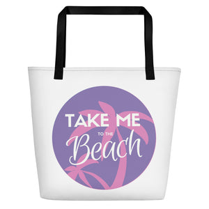 Take Me to the Beach - Print Beach Bag - Indie Band Coach