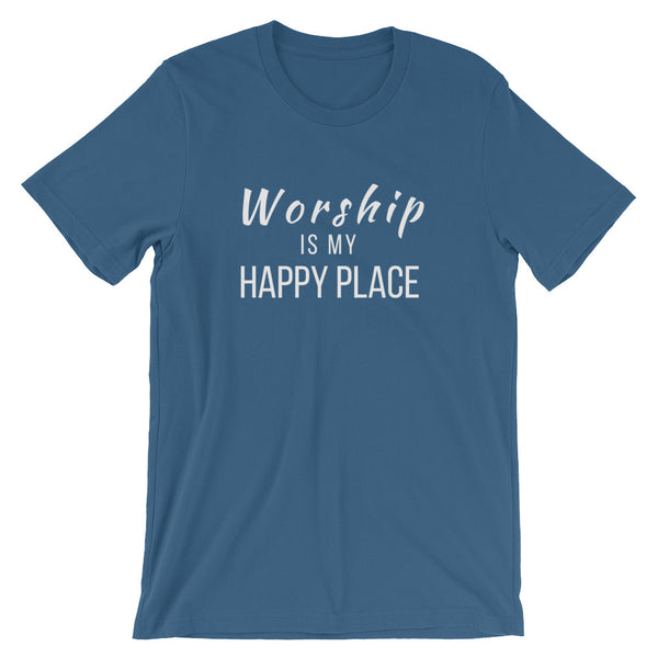 Worship Is My Happy Place Tee - Indie Band Coach