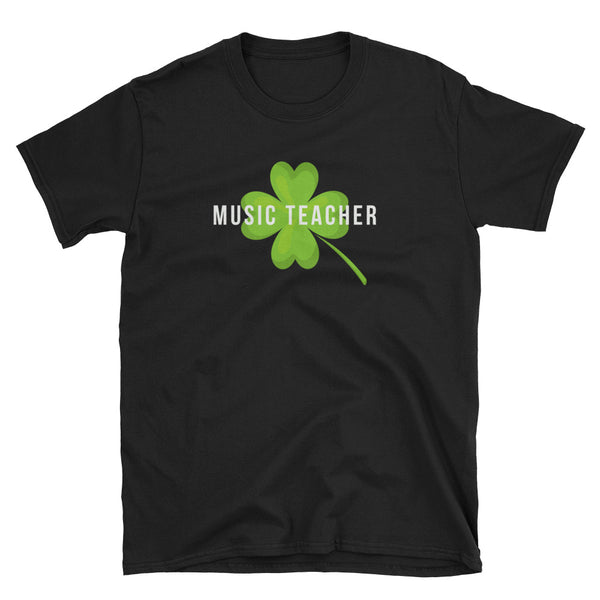 Lucky Music Teacher St Patrick's Day T-Shirt - Indie Band Coach