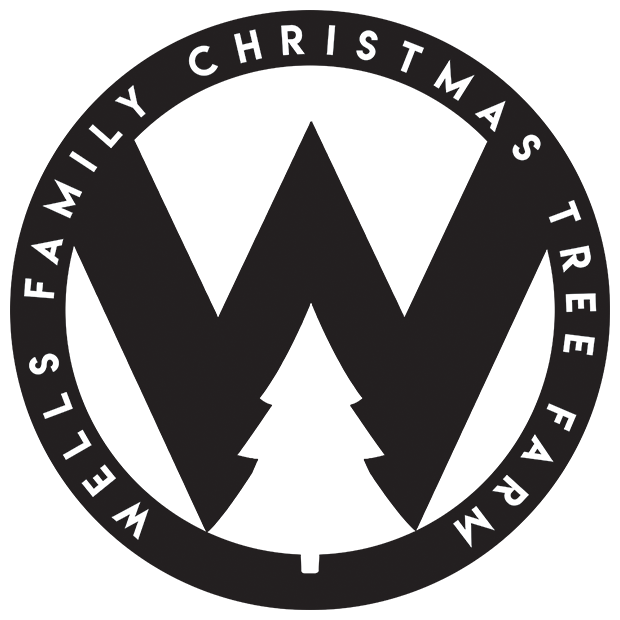 "Sticker - 4"" Black W Sticker - Wells Family Christmas Tree Farm"