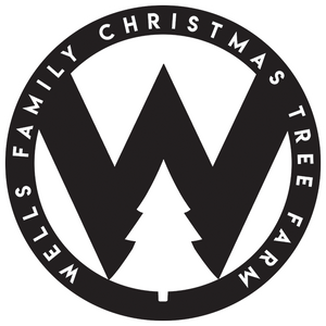 "Sticker - 4"" Wells Family Christmas Tree Farm - W"