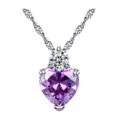 Wholesale Sterling Silver Heart Necklace - Ablaze Wholesale Jewelry
