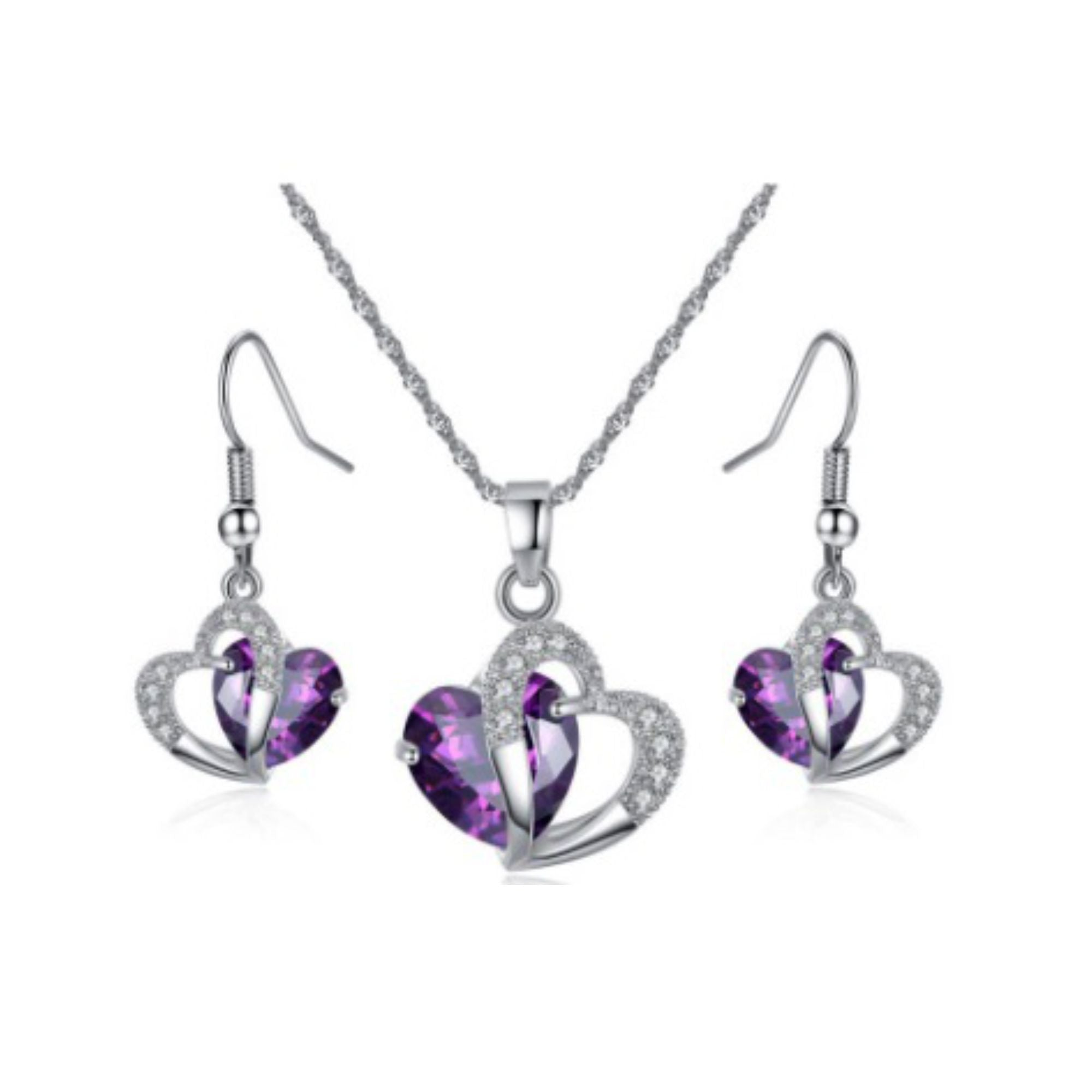 radiant women necklace royal john jewellery heart zoom pandora purple greed