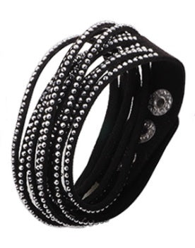 Multilayer Leather Wrap Fashion Bracelet