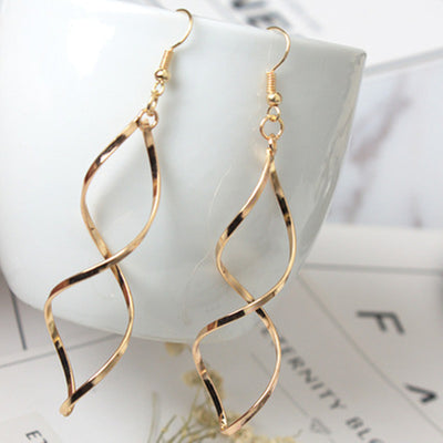 Curved Dangle Earrings