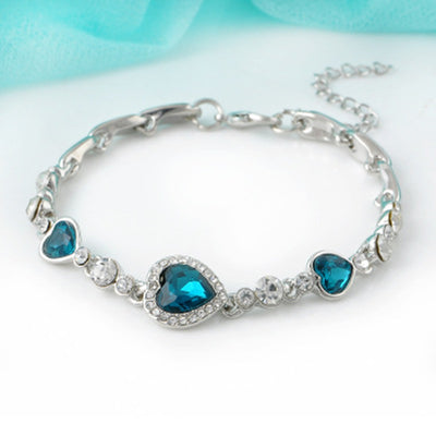 Heart Cubic Zirconia Diamond Bracelet