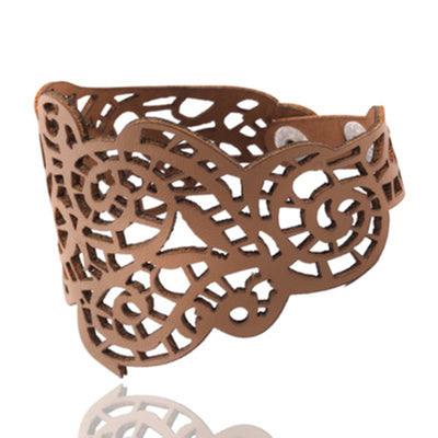 Imitation Leather Pattern Bracelet