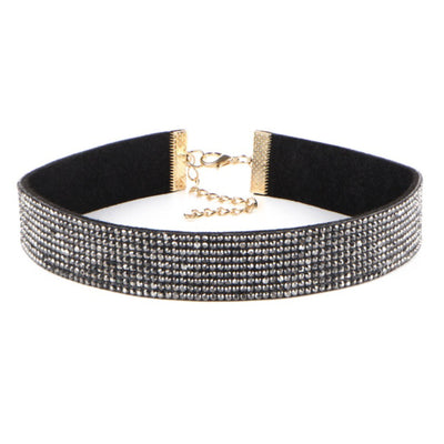 Rhinestone Choker Fashion Necklace