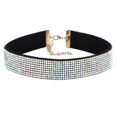 Wholesale Rhinestone Choker Fashion Necklace - Ablaze Wholesale Jewelry