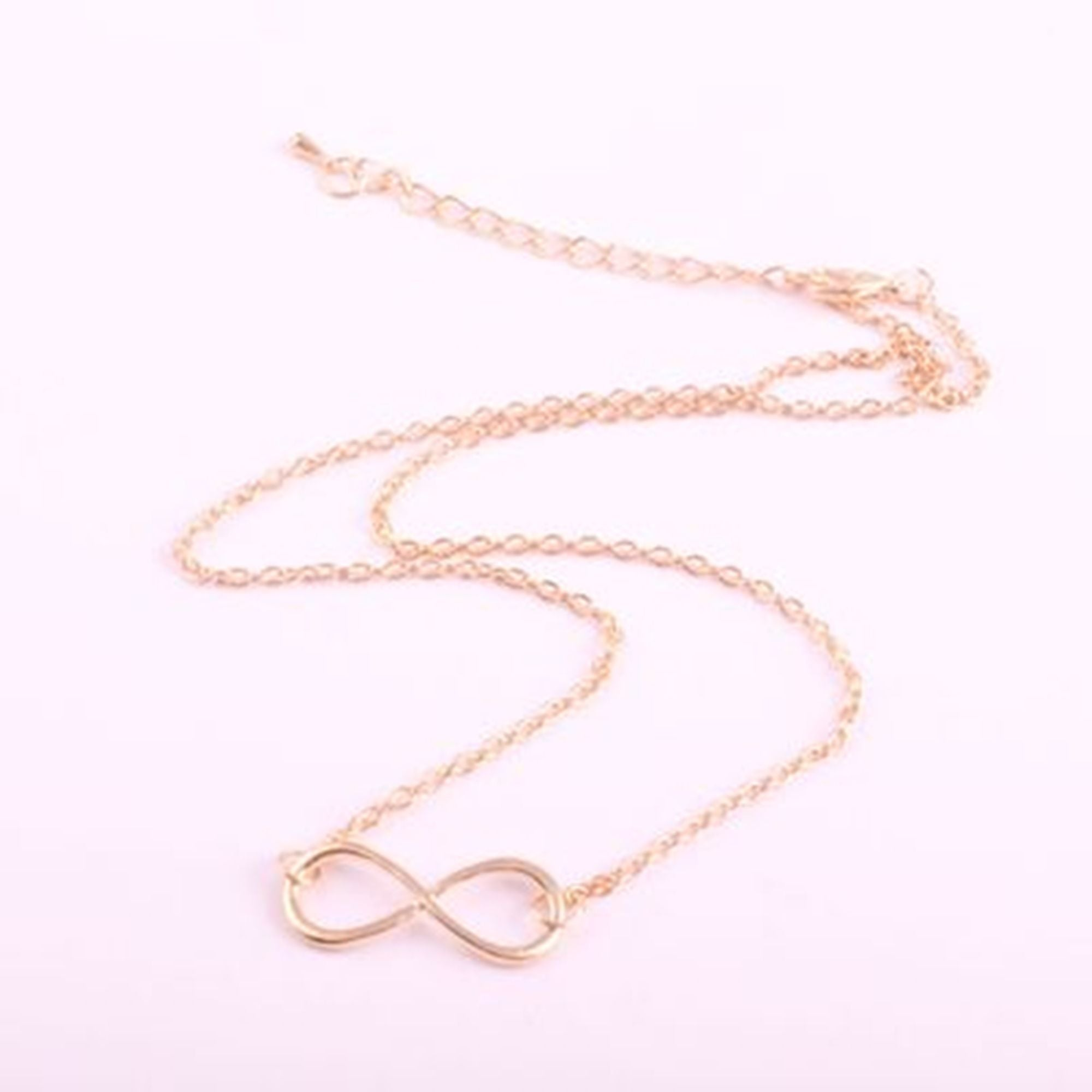 pendant jewellery cz infinity necklaces pendants white machi