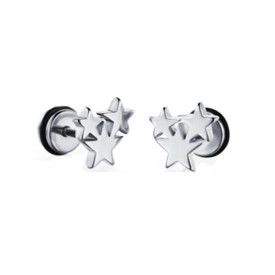 Wholesale Titanium Stainless Steel Star Stud Earrings - Ablaze Wholesale Jewelry