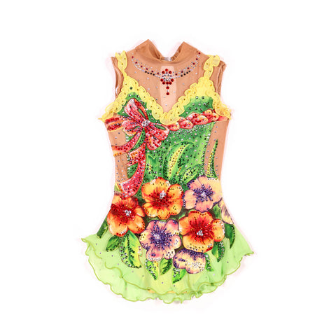 RHYTHMIC  Gymnastics competition Leotard - Floral