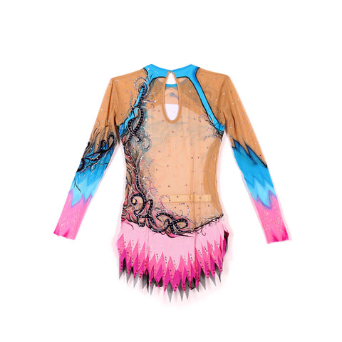 RHYTHMIC Gymnastics Competition Leotard- Oasis