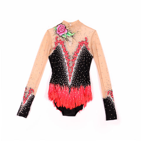 RHYTHMIC Gymnastics Competition Leotard - Rosen
