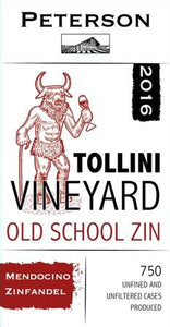 Tollini Vineyard Old School Zin 2016