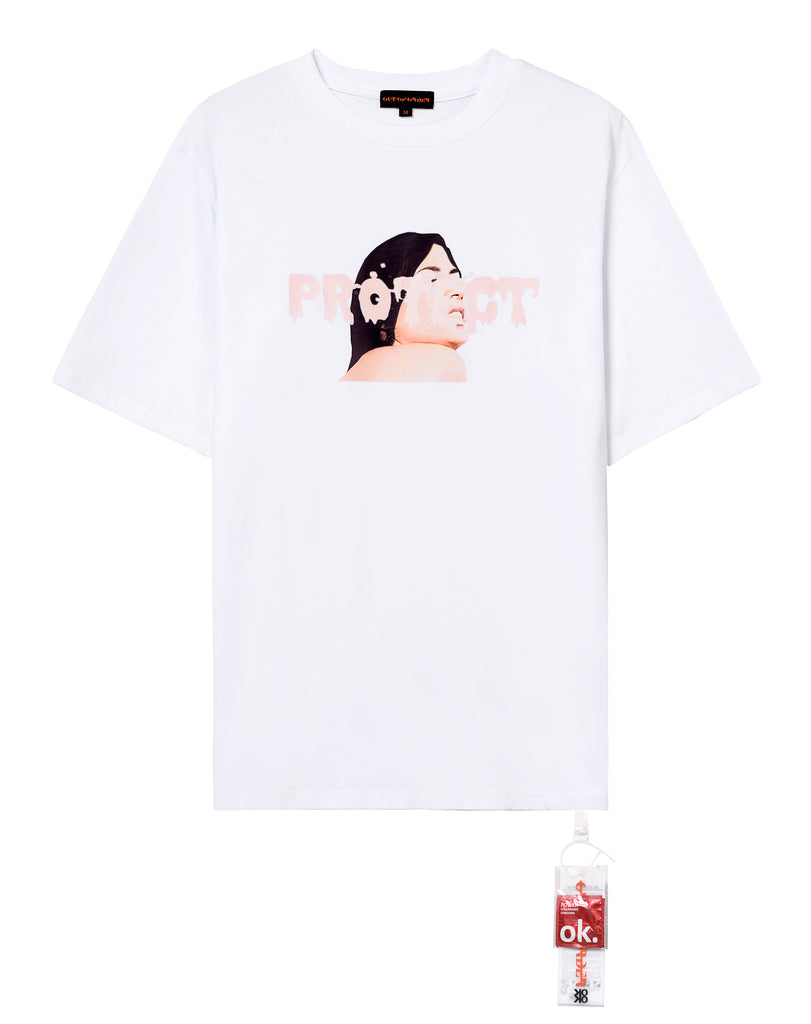 """PROTECT HER"" WHITE TEE"