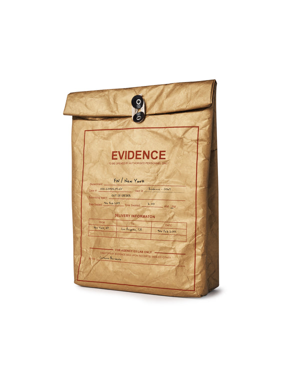 """EVIDENCE"" BAG IN GOLD"