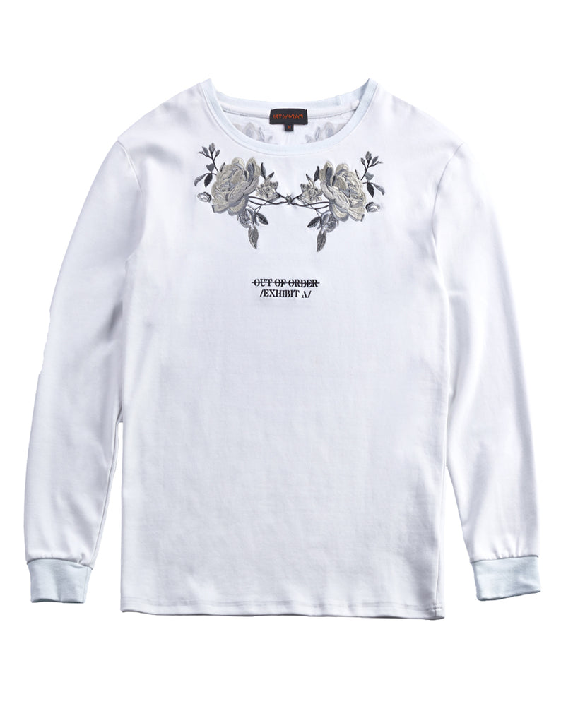 """WREATH"" WHITE SWEATER"