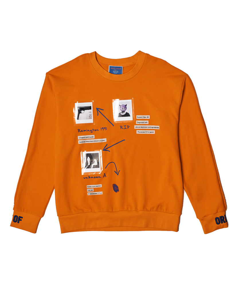 """AT THE SCENE"" Sweater in Orange"
