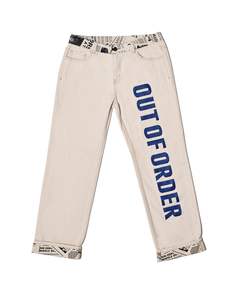 """NEWS"" DENIM PANTS (MALE)"