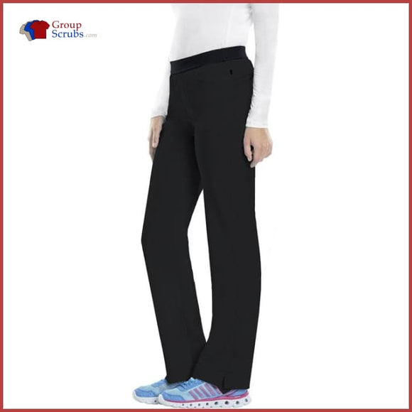 Cherokee Infinity 1124At Low Rise Slim Pull-On Pant Black / 2Xl Womens